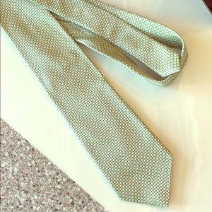Banana Republic silk tie. Sage green.